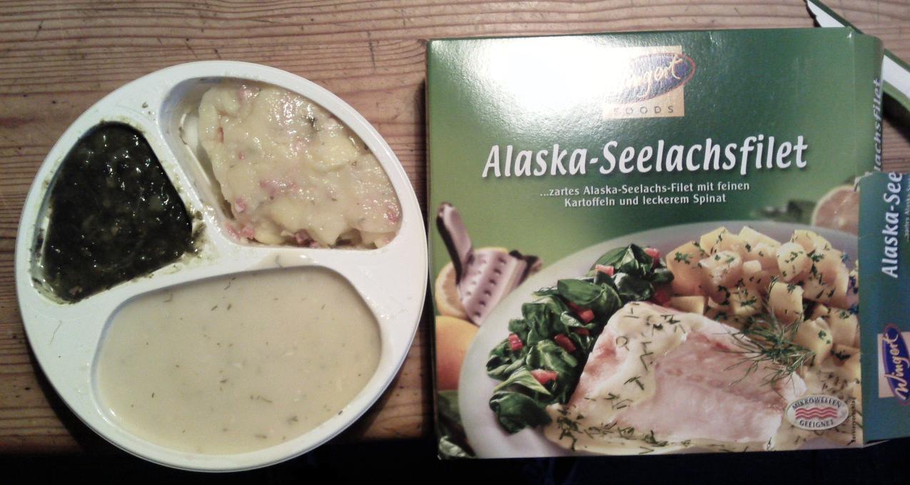 Das Alaska Seelachs Filet der Firma Wingert