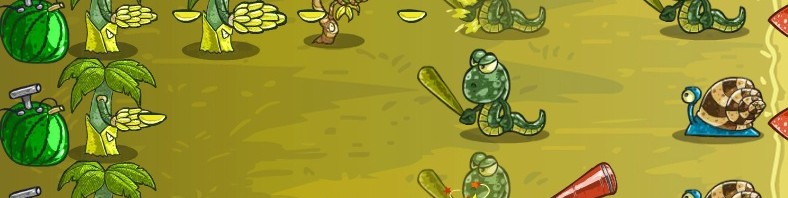 Spielbild aus dem Game Fruit Defense Express
