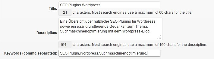 Pluginübersicht All in One SEO