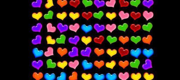 Valentinstag Hearts kostenloses Spiel Screenshot