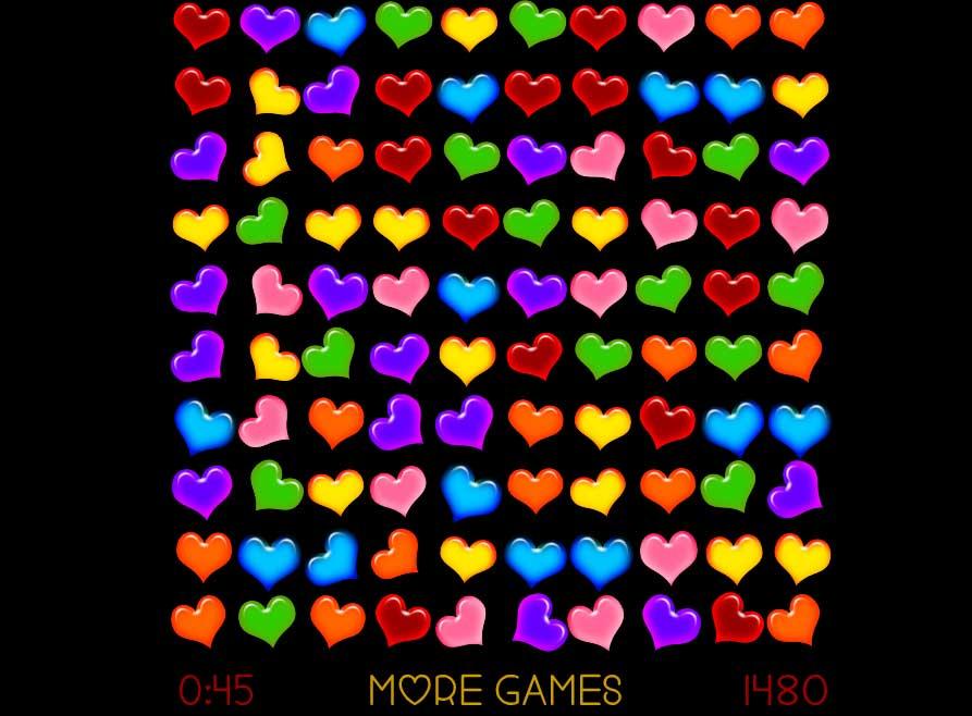 Valentinstag Spiel Hearts