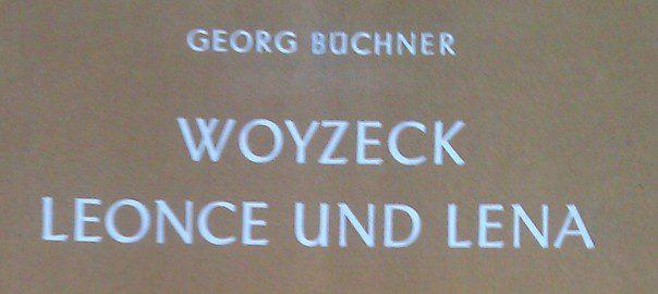 Hier sieht man den Titel von Woyzeck